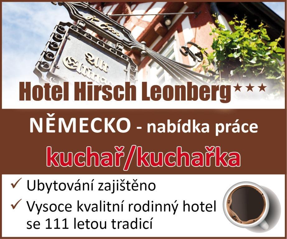 Nabídka práce - kuchař/kuchařka - Hotel Hirsch Leonberg***