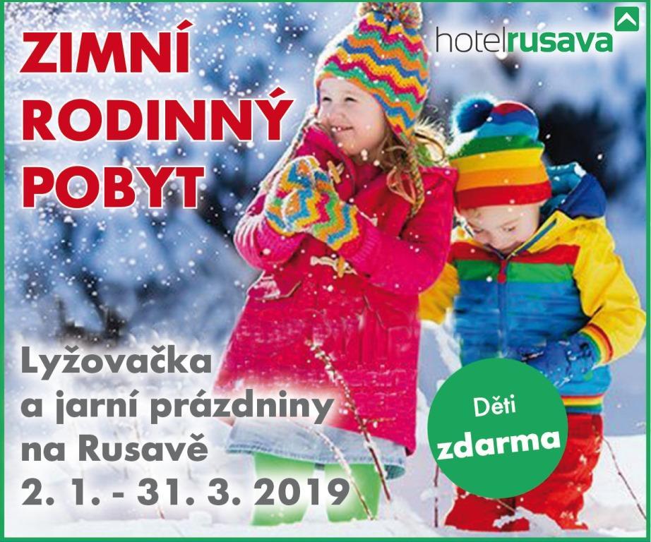 Zimní rodinný pobyt na hotelu Rusava