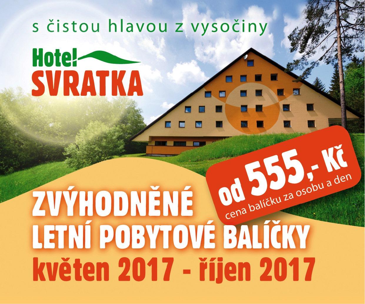 Letní wellness pobytové balíčky na Hotelu Svratka