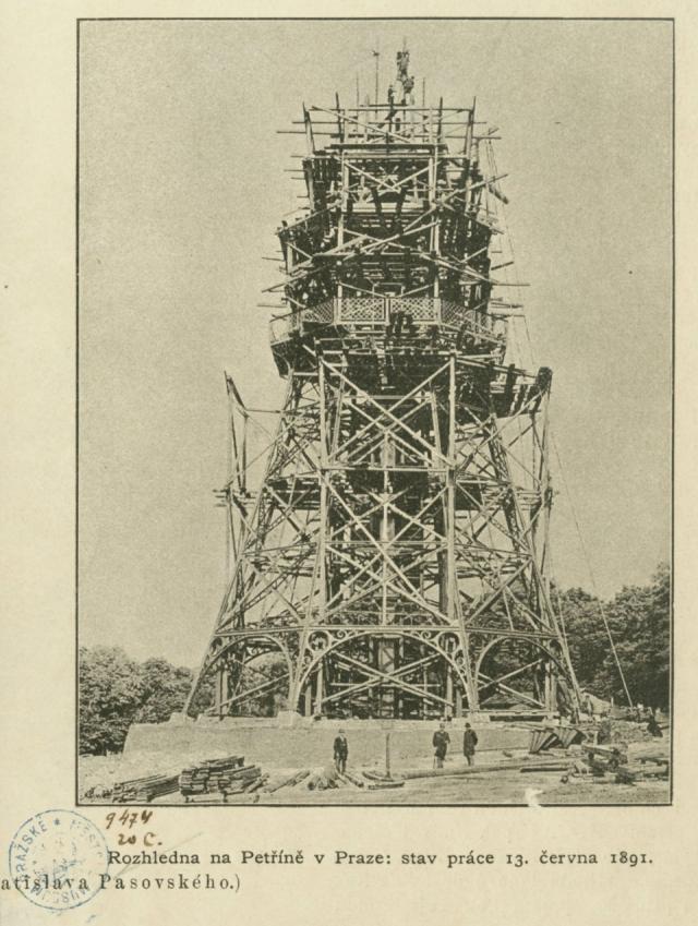 Stavba rozhledny, 1891, foto Vratislav Pasovský