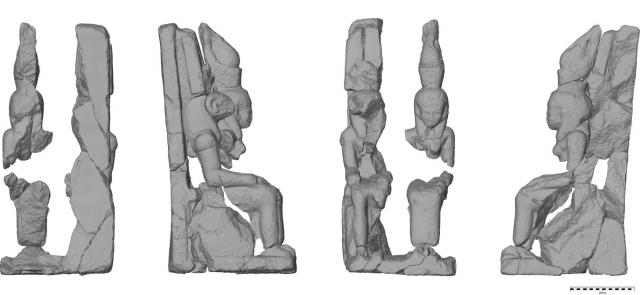 Dvojice sousoší boha Amona a bohyně Mut, foto Národní muzeum