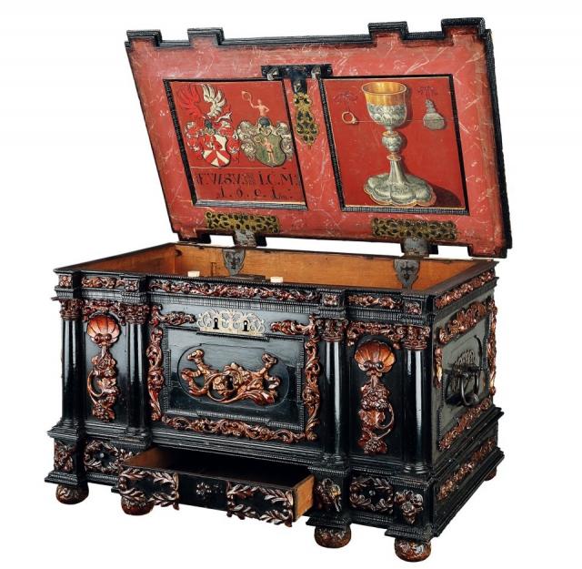 Pokladna Cechu zlatníků, Praha obnoveno 1803, foto Muzeum hlavního města Prahy