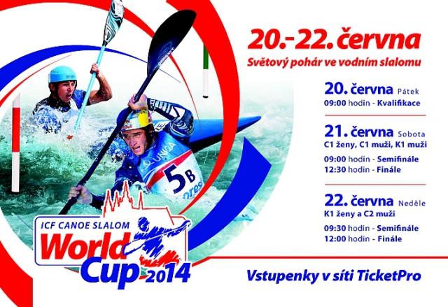 Praha Troja hostí Světový pohár ve vodním slalomu ICF World Cup 2014