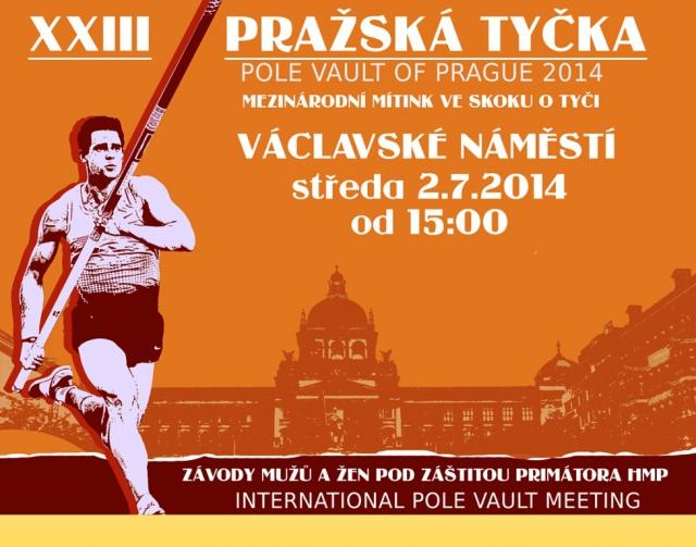 Pozvánka na XXIII. ročník mezinárodního mítinku ve skoku o tyči PRAŽSKÁ TYČKA 2014