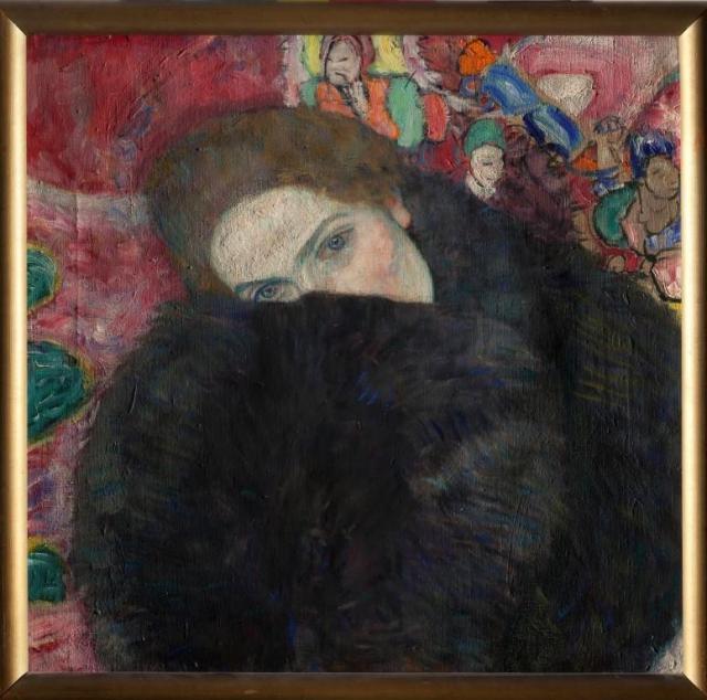 Obraz Gustava Klimta Dáma s rukávníkem, foto © Národní galerie v Praze