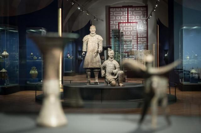 Výstava starého čínského umění v Císařské konírně Pražského hradu, foto Milan Marenčák