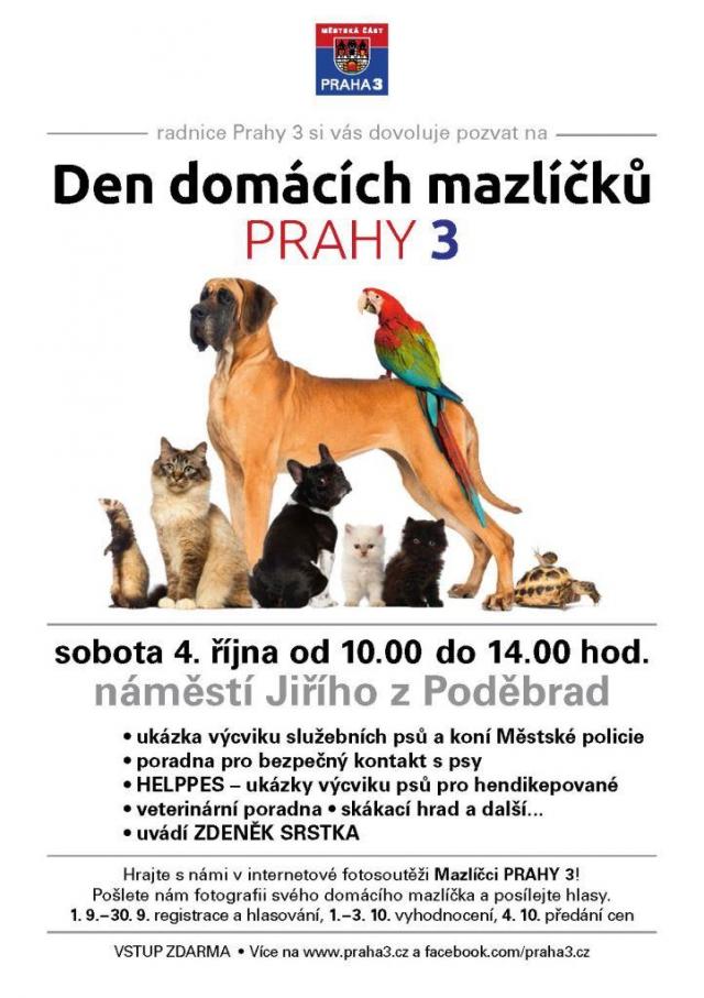 Den domácích mazlíčků na Praze 3