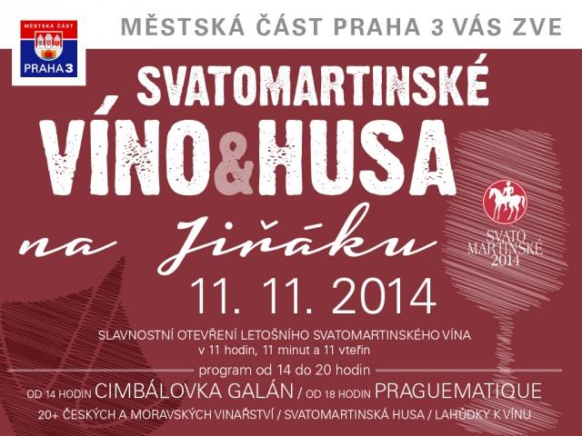 Svatomartinské slavnosti na náměstí Jiřího z Poděbrad nabídnou 11. listopadu sortiment více než 20 českých a moravských vinařství.