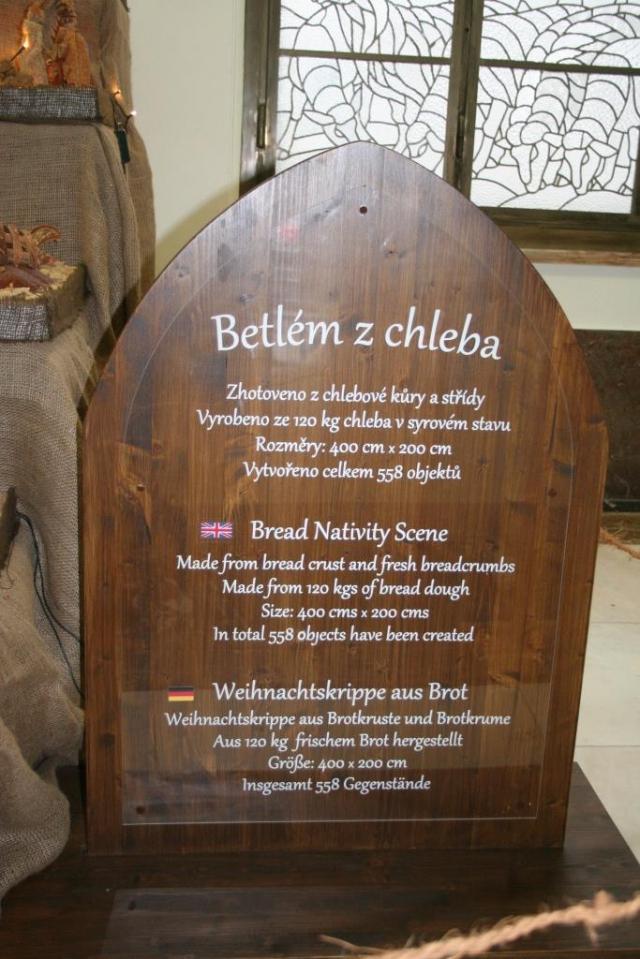 Na Ministerstvu zemědělství je vystaven unikátní betlém z chleba, foto MZe