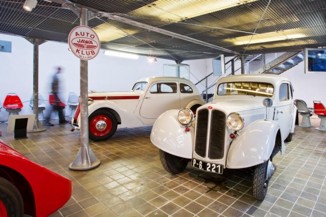 V Národním technickém muzeu je od 3. února otevřena krátkodobá výstava Automobily Jawa. Foto Národní technické muzeum