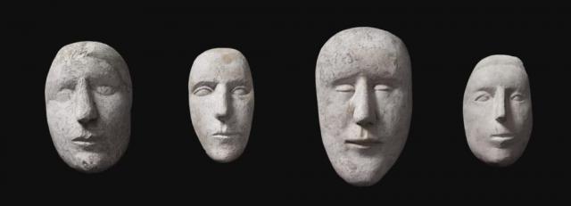 Plastika hlavy, kterou umístil do jeho jádra, je v zásadě autoportrétem autora, je ale také tváří smrti. Foto © 2015, Národní galerie v Praze