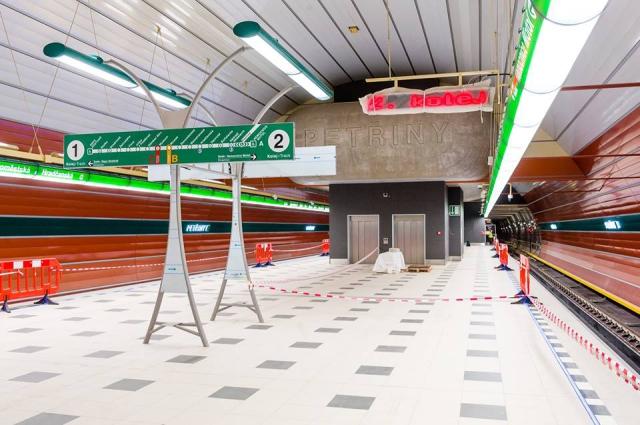 Nová stanice na lince A - Stanice Petřiny, zprovoznění dne 6. 4. 2015, foto: DPP