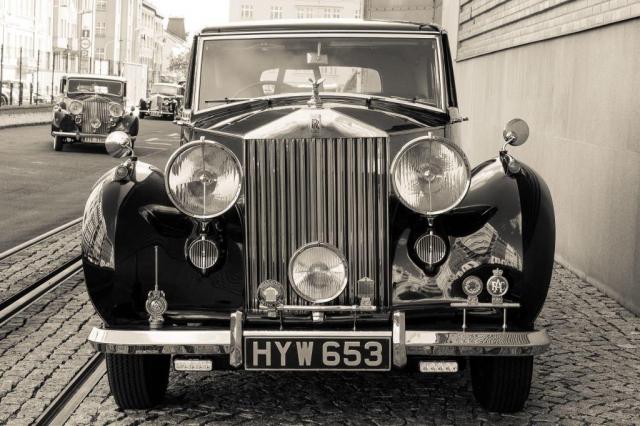 Národní technické muzeum vystavuje luxusní historické vozy Rolls-Royce a Bentley, foto František Hulec, NTM