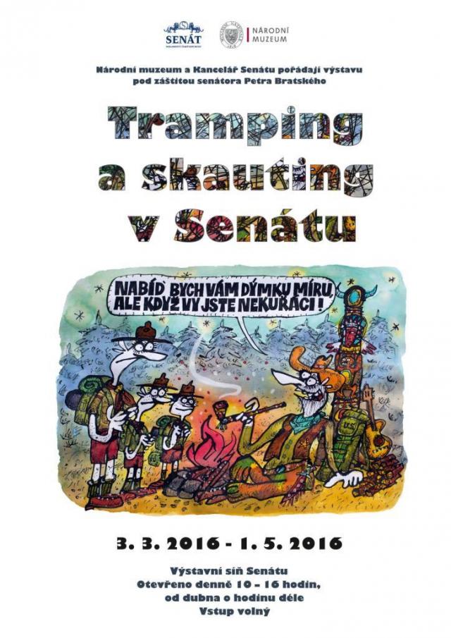 Nová výstava v Senátu mapuje tramping a skauting