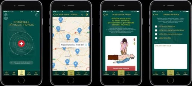 Nová mobilní aplikace pomůže záchranářům lokalizovat místo nehody.