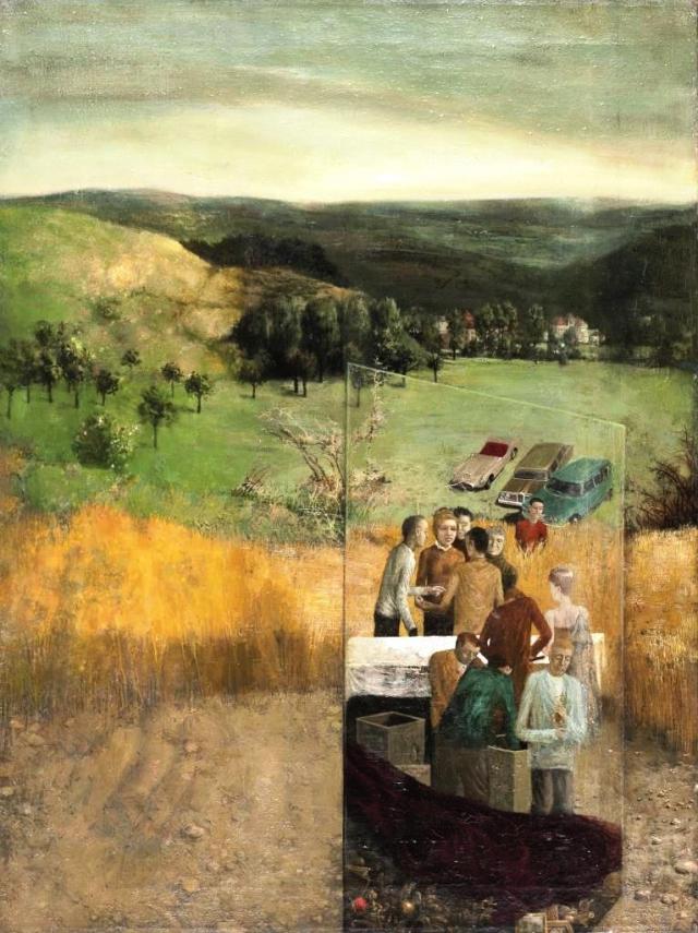 Mikuláš Rachlík, Třebáň, 1963, olej na plátně, foto Galerie hlavního města Prahy