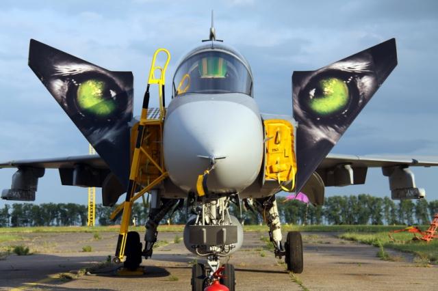 Pražská muzejní noc neobvykle: průlety gripenů, filmy s MiG-29, letadla okolo vás. Foto VHÚ