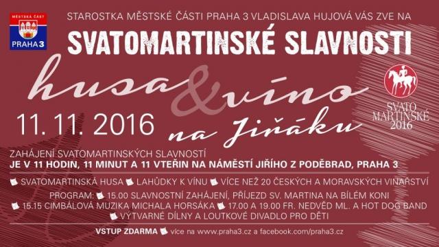 Svatomartinské slavnosti na Jiřáku nabídnou mladé víno a husí pečínku