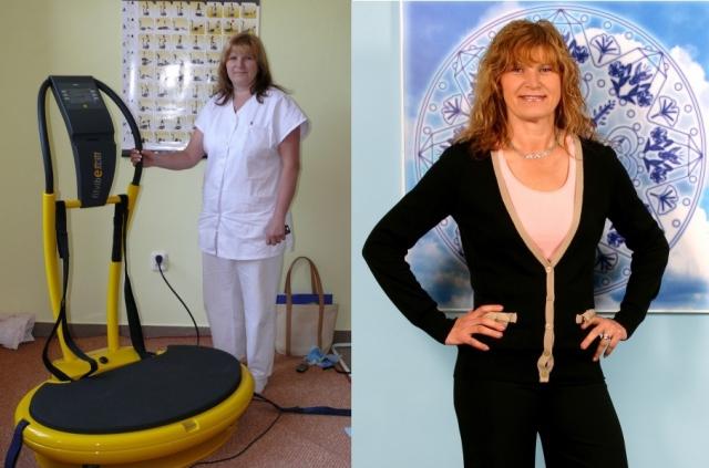 paní Martina před (programem Metabolic Balance) a po.
