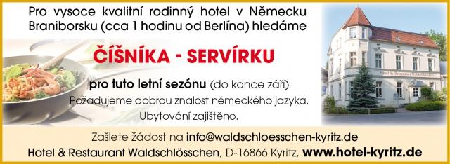 Majitelé rodinného hotelu v Německu hledají české zaměstnance