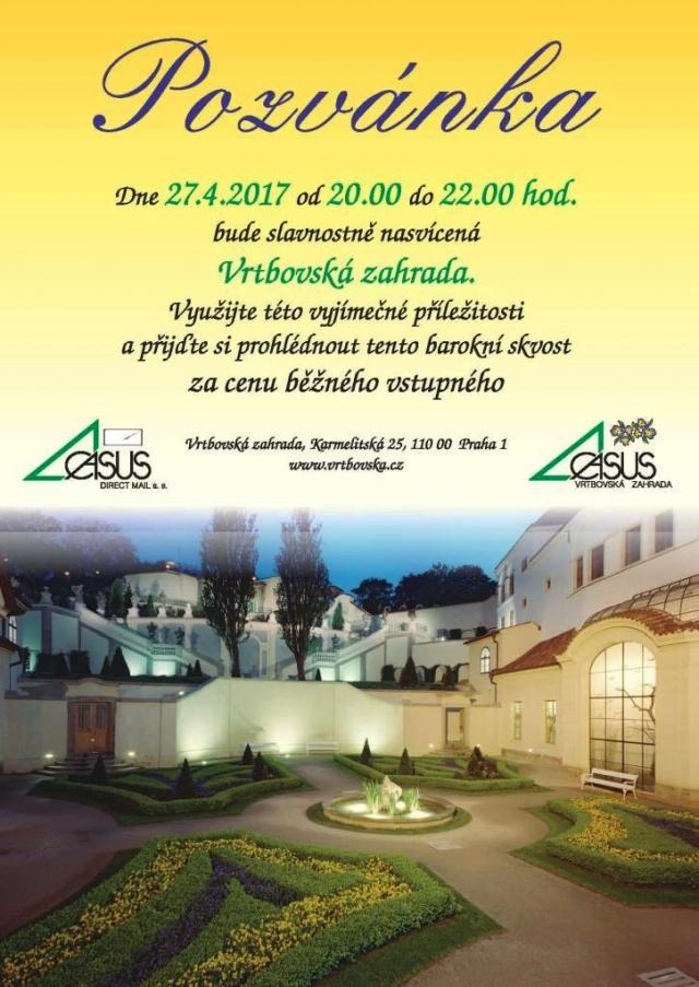 Mimořádná příležitost navštívit barokní Vrtbovskou zahradu, foto www.vrtbovska.cz