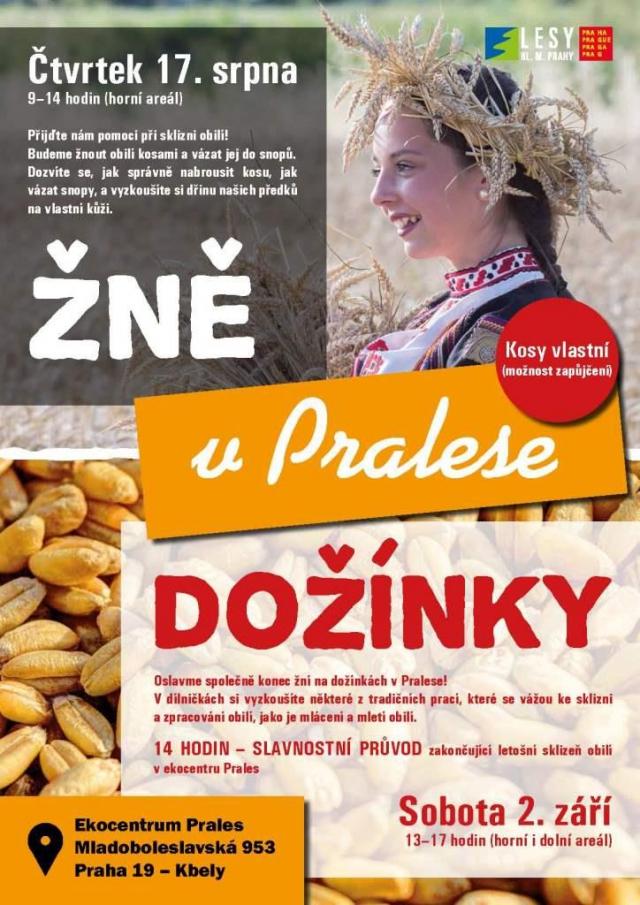 Přijďte na první žně i dožínky ve Kbelích, foto Lesy Praha