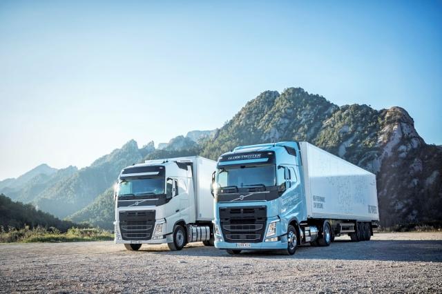 Volvo Trucks s plynovým pohonem produkují méně emisí CO2, foto AB Volvo