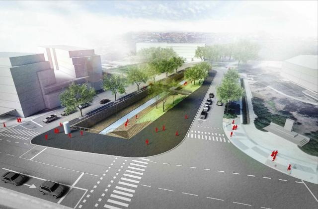 Revitalizace libeňského Elsnicova náměstí proběhne v roce 2018, Vizualizace FAM Architekti
