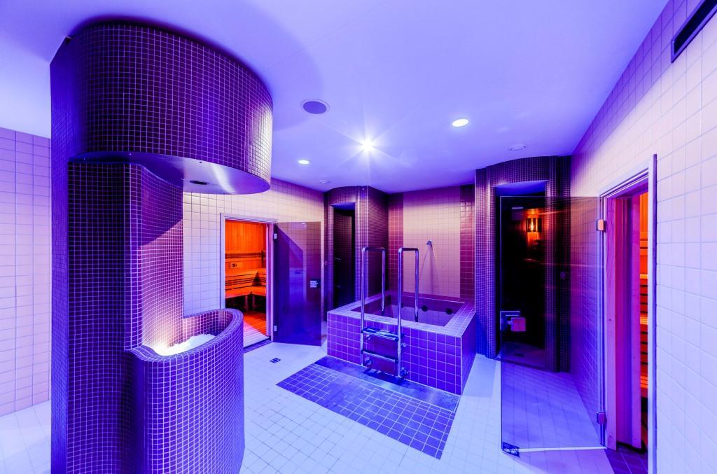 Nechybí zde wellness zařízené i pro náročnější klienty. Samozřejmou součástí je finská a aroma sauna, parní lázeň a ledová studna. Wellness má příjemnou odpočívárnu vybavenou lehátky.