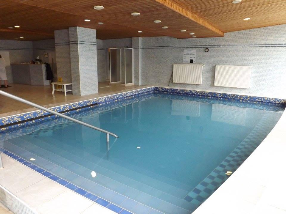 Hotel Aquamarin má vlastní termální pramen, který poskytuje výbornou léčivou vodu do dvou vnitřních bazénů.