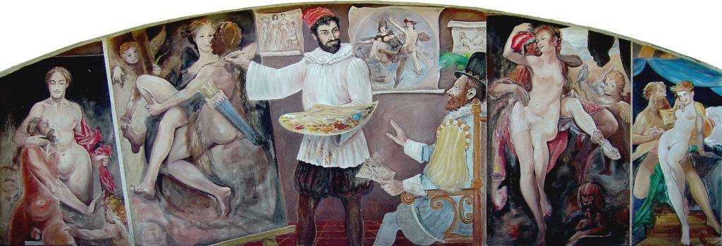 Zajímavostí hotelu a restaurantu je originální obrazová výzdoba z rudolfínského období malovaná mistrem štětce Milanem Víškem z Prahy 8.
