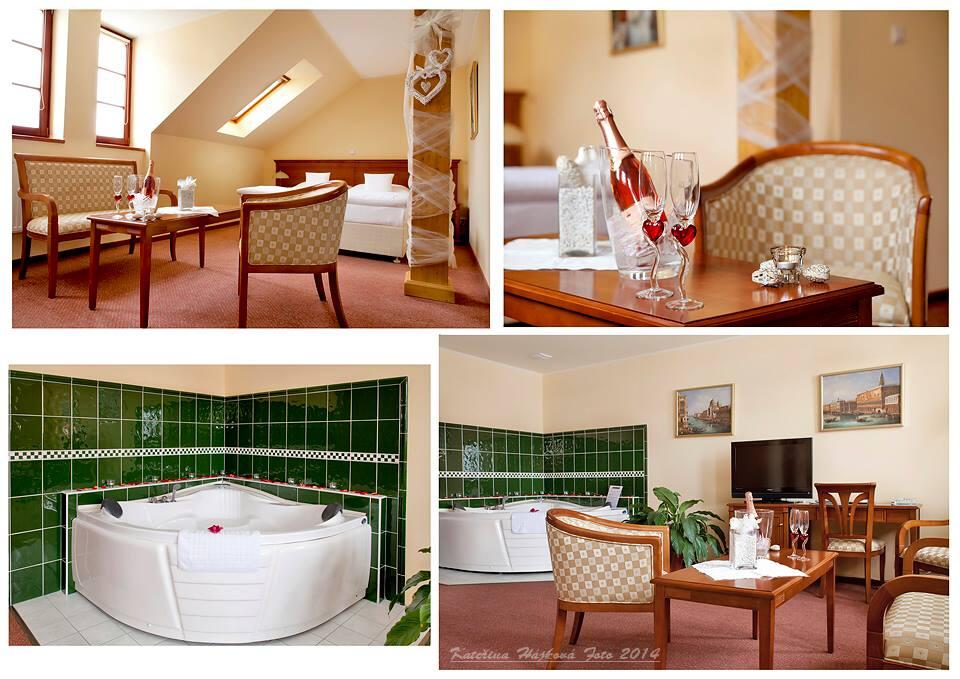 I náročné hosty uspokojí luxusní ubytování ve stylově zařízených pokojích. Pokoje jsou vybaveny koupelnou (sprcha/vana, WC, vysoušeč vlasů), minibarem, TV, telefonem, připojením na internet a bezpečnostní schránkou. Foto Wellness Hotel Ida