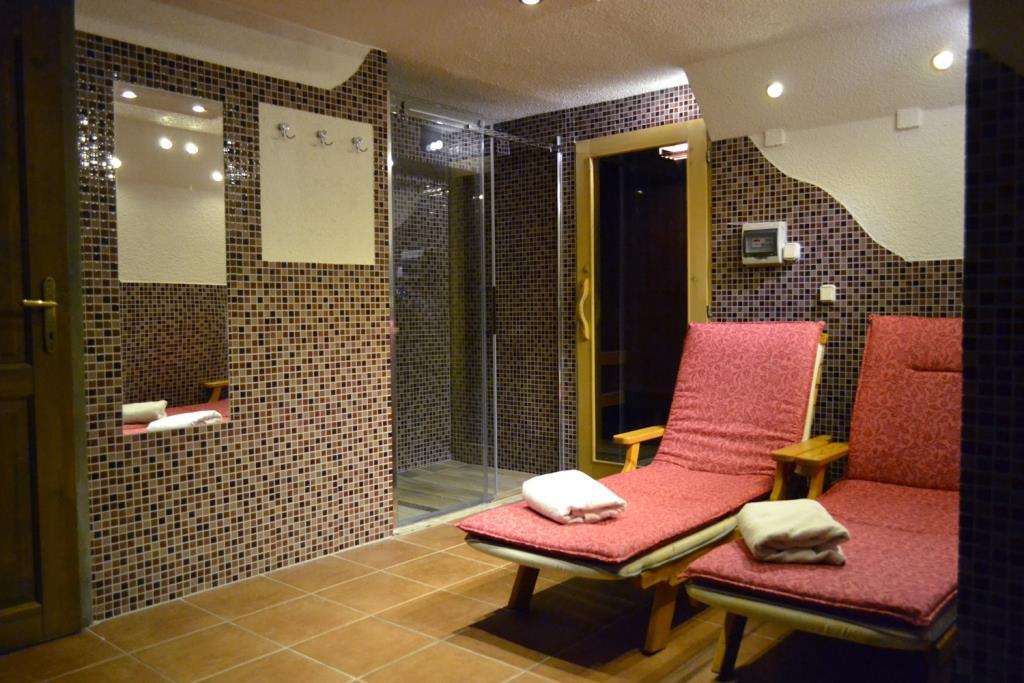 K relaxaci a odpočinku slouží hotelové wellness centrum: krytý bazén se slanou vodou a protiproudem, finská a parní sauna, infrakabina, solárium, whirlpool, relaxační místnost, masáže a zábaly, pedikúra a manikúra. Foto hotel Maxant