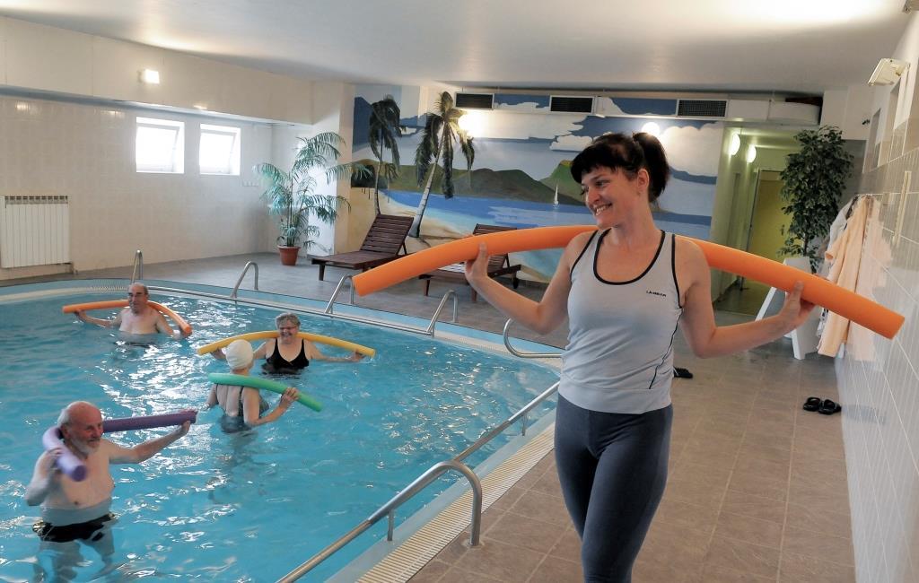 Cvičení - bazén v Lázeňském hotelu Pyramida, foto Lázeňský hotel Pyramida