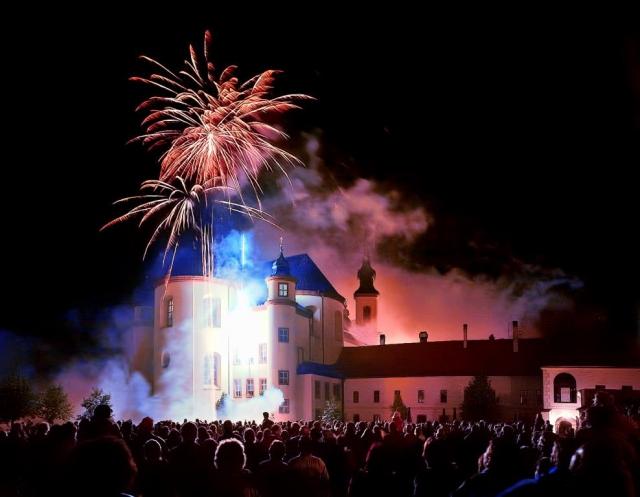 Novoroční ohňostroj v Litomyšli, foto Město Litomyšl