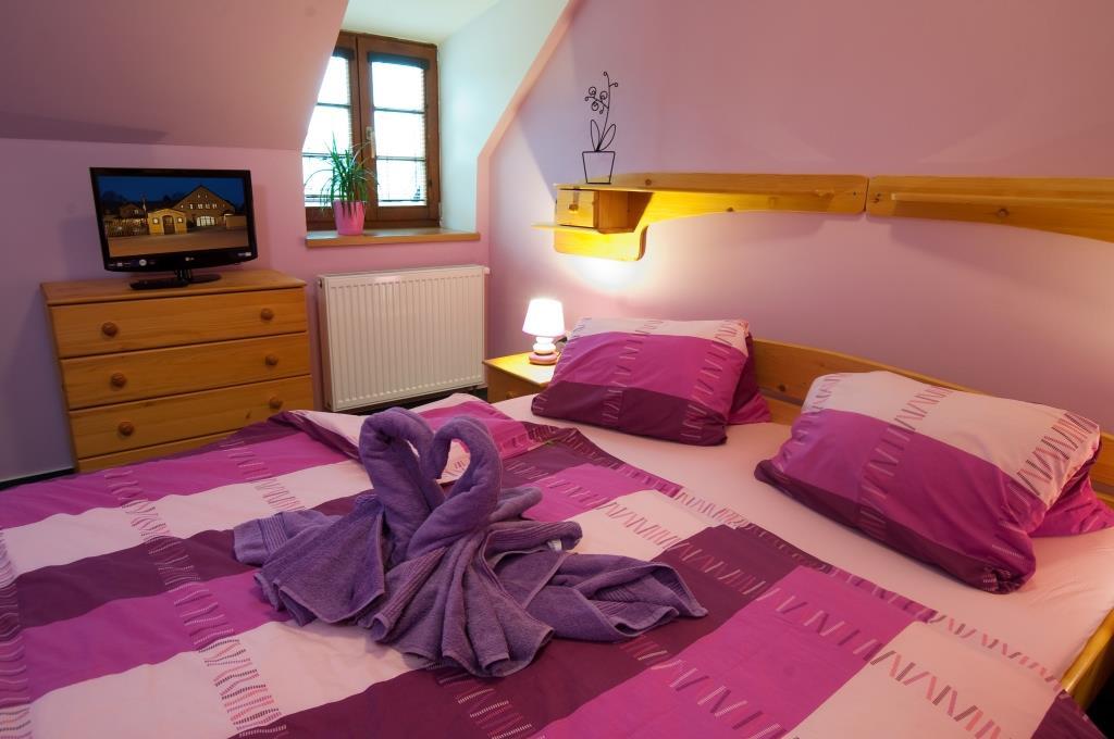 Penzion U Černého čápa disponuje moderními pokoji i apartmány s vlastním sociálním zařízením a připojením k internetu. V ceně ubytování jsou zahrnuty snídaně. Foto Penzion U Černého čápa