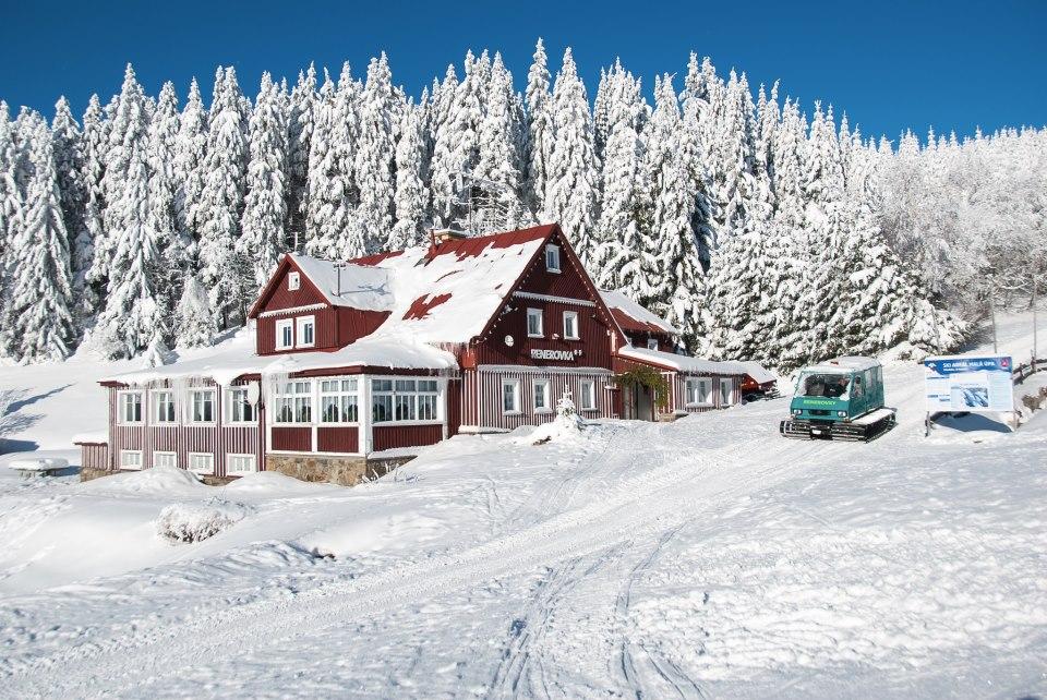 Horské boudy Renerovky -  Stará Renerovka ** v zimě