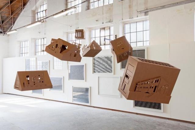 Výstava OSADA, vystavující Pavla Gajdošíková, foto Trafo Galerie