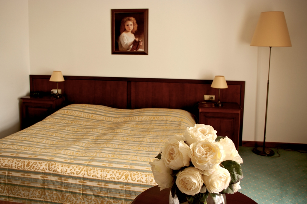 Ubytovat se můžete v 10 luxusních dvojlůžkových pokojích (3 pokoje typu Standard, 5 pokojů typu Lux a 2 pokoje typu Deluxe) a nádherném svatebním apartmá. Každý pokoj je vybaven stylovým nábytkem, satelitní TV, radiobudíkem, minibarem, trezorem a telefonem s přímou volbou.