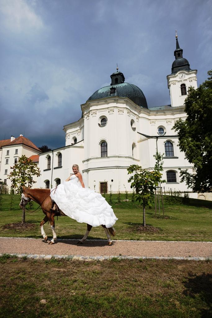 Svatby na Zámku Křtiny, foto Školní lesní podnik Masarykův les Křtiny