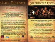 Zámecký resort Dětenice - Kalendář akcí 2014