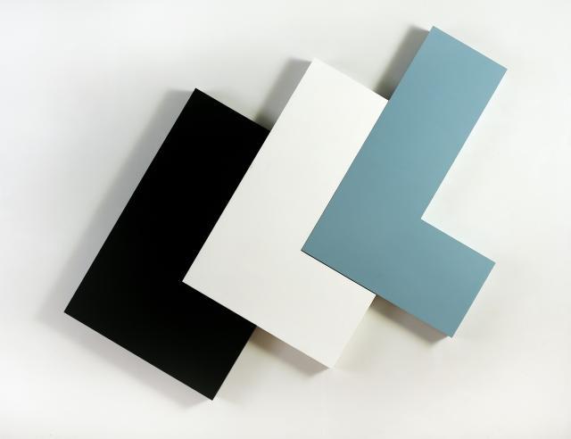 Jan Kubíček, Prostorové elementy L (variamobil), 1968, smalt, kov, foto Galerie hlavního města Prahy