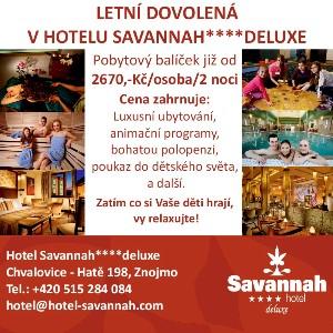 Letní dovolená v Hotelu Savannah