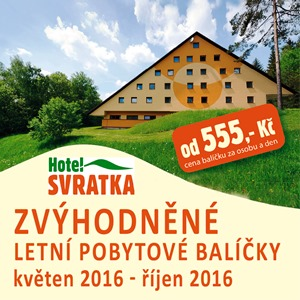 Letní pobytový balíček na hotelu Svratka
