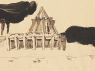 Bedřich Feuerstein: Studie architektury, foto Národní galerie Praha