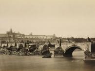 J. Ekert, Karlův most po povodni r.1890, foto Muzeum Prahy