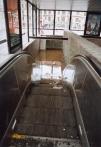 Zatopená stanice metra Florenc po opadnutí vody - 2002, foto M. Patrná