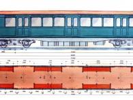 Návrh vagónů podzemní dráhy od Škodových závodů v roce 1931