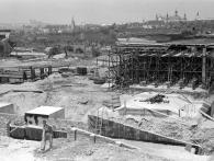 Stanice Vyšehrad stavba, foto archiv DPP
