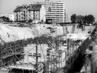 Staveniště dnešní stanice Pankrác, foto archiv DPP